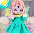 "Sailorfuku - Sakura - Mint  - For Mouse Mimi /Bunnycorn Lamoon - Online shop ""Villi Tunes Doll"""