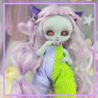 "Jumpsuit - Summer - Purple-green candy - Online shop ""Villi Tunes Doll"""