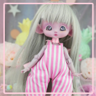 "Jumpsuit - Summer - pink stripes - Online shop ""Villi Tunes Doll"""
