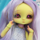 "Wig size 1/4 - purple - super long hair - Online shop ""Villi Tunes Doll"""