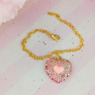 "Chain - Light pink heart - Online shop ""Villi Tunes Doll"""