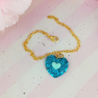 "Chain - Blue heart - Online shop ""Villi Tunes Doll"""