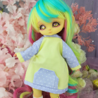 "Hoodies- Yellow and purple - For Mouse Mimi /Bunnycorn Lamoon - Online shop ""Villi Tunes Doll"""