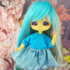 "Dress - Shiny Aquamarine  - For Bunnycorn Lamoon\Mimi - CHU - Online shop ""Villi Tunes Doll"""