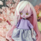 "Dress - Shiny dark - purple - For Bunnycorn Lamoon\Mimi - CHU - Online shop ""Villi Tunes Doll"""
