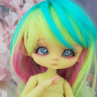 "Mouse Mimi - chu in colour Light lemon yellow - Online shop ""Villi Tunes Doll"""