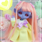 "Sailorfuku - Sakura -  Yellow  - For Mouse Mimi /Bunnycorn Lamoon - Online shop ""Villi Tunes Doll"""