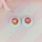 "eyes 16  mm - rhodochrosite - Online shop ""Villi Tunes Doll"""
