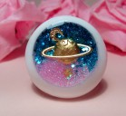 "Eye 50 mm - blue-pink planet - Online shop ""Villi Tunes Doll"""