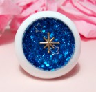 "Eye 50 mm - dark blue star - Online shop ""Villi Tunes Doll"""