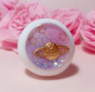 "Eye 50 mm - Pink-violette planet&stars - Online shop ""Villi Tunes Doll"""