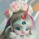 "Headband - white roses and crystals - Online shop ""Villi Tunes Doll"""