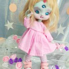 "Dress - Pink polka dot - For Mouse Mimi /Bunnycorn Lamoon - Online shop ""Villi Tunes Doll"""