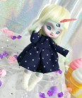 "Dress - dark blue & stars - For Bunnycorn Lamoon - Online shop ""Villi Tunes Doll"""