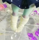 "Socks size 1\6 - plush white - Online shop ""Villi Tunes Doll"""