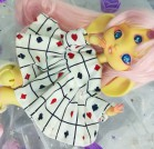 "Dress - white & hart -Alice in wonderland For Bunnycorn Lamoon - Online shop ""Villi Tunes Doll"""