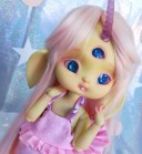 "Wig size 1/4 - light pink- long hair - Online shop ""Villi Tunes Doll"""