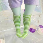 "Socks size 1\6 - green stripes - Online shop ""Villi Tunes Doll"""