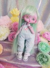 "jumpsuit Sky blue & heart -For Mouse Mimi /Bunnycorn Lamoon - Online shop ""Villi Tunes Doll"""