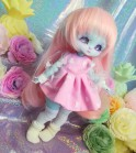 "Dress - Pink and heart  - For Mouse Mimi /Bunnycorn Lamoon - Online shop ""Villi Tunes Doll"""