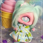 "Dress - light blue totoro - Online shop ""Villi Tunes Doll"""