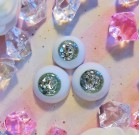 "eyes 16 - 14 mm - *Moonlight silver* - Online shop ""Villi Tunes Doll"""