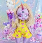 "jumpsuit yellow & pink hearts - Online shop ""Villi Tunes Doll"""