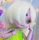 "Wig size 1/4 - white - super long hair - Online shop ""Villi Tunes Doll"""