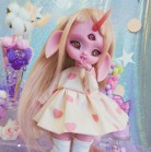 "Dress - light pink heart - little Princess - Online shop ""Villi Tunes Doll"""