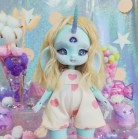 "jumpsuit light pink heart - little Princess - Online shop ""Villi Tunes Doll"""
