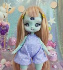 "Jumpsuit purple polka dots - Online shop ""Villi Tunes Doll"""