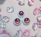 "eyes 16 - 14 mm - *Pink & golden moon* - Online shop ""Villi Tunes Doll"""