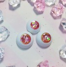 "eyes 16 - 14 mm - rhodochrosite - Online shop ""Villi Tunes Doll"""
