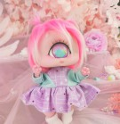 "Dress - Purple - blue robot - Online shop ""Villi Tunes Doll"""