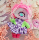 "Dress - Purple picnic - Online shop ""Villi Tunes Doll"""