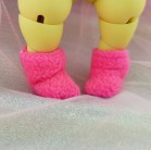"Socks for Mizuki - plush dark PINK - Online shop ""Villi Tunes Doll"""