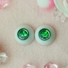 "eyes 18 mm -* Green planet * - Online shop ""Villi Tunes Doll"""