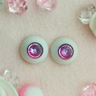 "eyes 18 mm -* Purple and pink - planet * - Online shop ""Villi Tunes Doll"""
