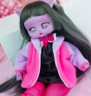 "Plush Jacket - Raspberry jam - Online shop ""Villi Tunes Doll"""