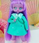 "Dress - Mint stars  - for Minami - Online shop ""Villi Tunes Doll"""