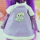 "T-shirt - purple ^ LOVE YOU ^ - Online shop ""Villi Tunes Doll"""