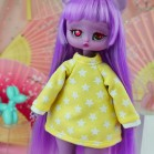 "Hoodie -  Carousel of yellow stars - Online shop ""Villi Tunes Doll"""