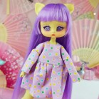 "Simple Dress - Purple stars - Online shop ""Villi Tunes Doll"""