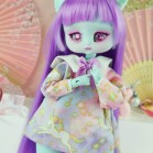 "Dress - Purple unicorns  - Online shop ""Villi Tunes Doll"""