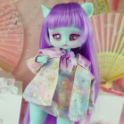 "Bomoku - purple - unicorns - Online shop ""Villi Tunes Doll"""