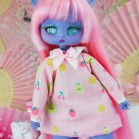 "Dress - PINK pears and ribbon for Minami - Online shop ""Villi Tunes Doll"""