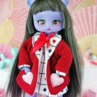 "Plush Jacket - RED -Alice in wonderland  - Online shop ""Villi Tunes Doll"""
