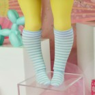 "Socks size Minami - Blue stripes - Online shop ""Villi Tunes Doll"""