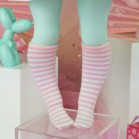 "Socks size Minami - Pink stripes - Online shop ""Villi Tunes Doll"""