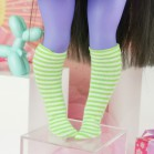 "Socks size Minami - Green stripes - Online shop ""Villi Tunes Doll"""